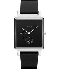 reloj konrad retrograde black silver komono