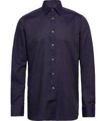 blue herringb flannel shirt skjorta business blå eton