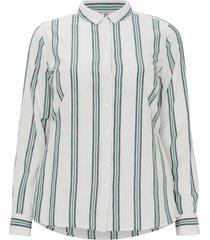 lång, randig skjorta med lång ärm
