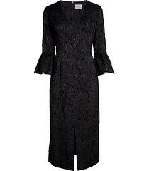 st. jacquard filcoupe floral lace sheath dress