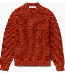 proenza schouler white label textured yarn sweater burgundy/black/red l