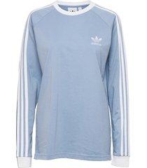 adicolor classics 3-stripes long sleeve tee t-shirts long-sleeved blå adidas originals