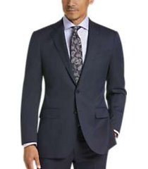 joseph abboud dark blue stripe modern fit suit