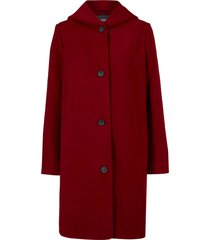 cappotto corto in simil lana con cappuccio (rosso) - bpc bonprix collection