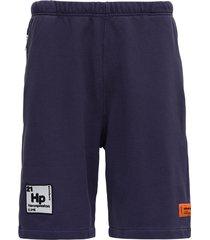 heron preston jersey bermuda shorts with logo
