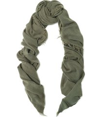 fringed wool and cashmere-blend scarf