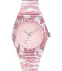 reloj guess retro pop - rosa