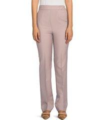 fendi women's mohair high-waist slim-leg pants - liberty beige - size 42 (8)