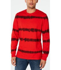 american rag men's tie dye striped long-sleeve t-shirt