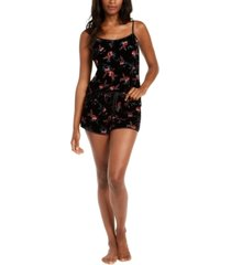 inc floral-print burnout velvet top & pajama shorts set, created for macy's