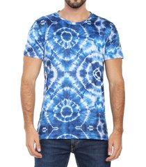 camiseta de hombre azul oscuro rachid tie dye