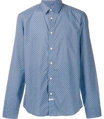 kenzo tiger head shirt - blue