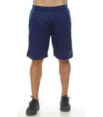 pantaloneta deportiva,  color azul oscuro  para hombre