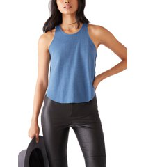 women's free people cool it thermal knit tank, size large - blue