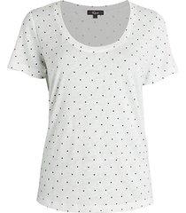 luna polka dot linen-blend t-shirt