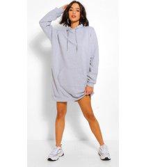 oversized sweater jurk met schouderpads, grijs gemêleerd