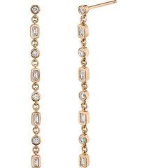 infinity diamond drop earrings