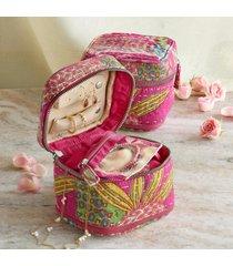 kantha stitchery jewelry case