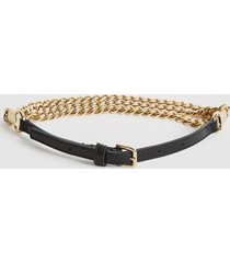 reiss anabelle - chain belt in gold, womens, size l