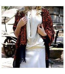 wool shawl, 'sparkling paisley' (india)