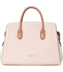 kate spade new york knott large leather satchel - pink
