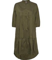 cuantoniett dress jurk knielengte groen culture