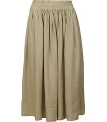 aspesi ribbed waist plain skirt