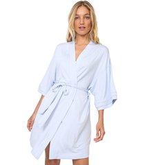 robe calvin klein underwear liso azul