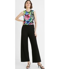 long jumpsuit with bow on the body - black - xl