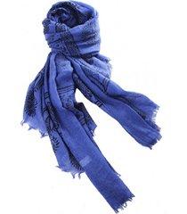 lenço real arte estampa arabescos azul
