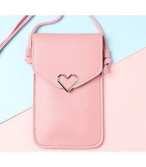 donna cuore touch screen con patta shaper 5,5 pollici telefono borsa tracolla borsa spalla borsa