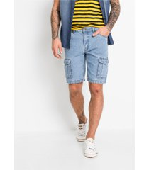 regular fit cargo jeans bermuda
