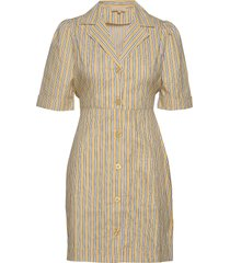 poplin kitchen dress kort klänning gul by ti mo