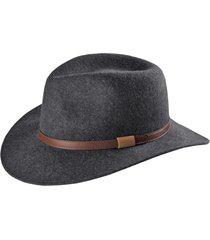 heathered-felt hat, gray, 2xl
