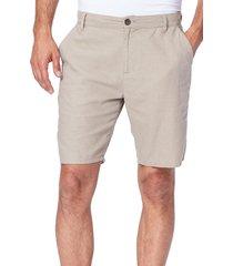 men's paige thompson slim fit linen blend shorts, size 28 - brown