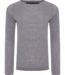 suéter masculino leve - cinza