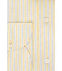 van gils heren overhemd extren geel gestreept linnen slim fit ml7