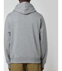 kenzo men's tiger crest classic hoodie - dove grey - xxl