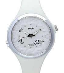 las vegas – orologio bianco in silicone e acciaio per donna
