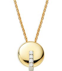 18k two-tone gold, ruby & diamond necklace
