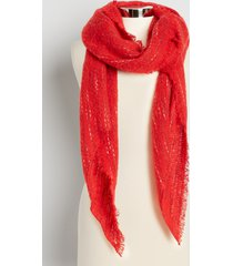 maurices womens red oblong scarf
