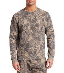 modern tropical print sweatshirt