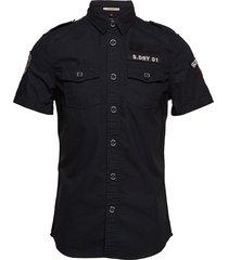 army corps lite s/s shirt kortärmad skjorta svart superdry