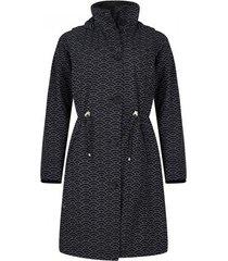 happyrainydays regenjas coat britt seikaiha black off white-s