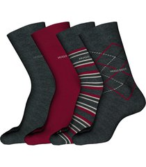 men's boss 4-pack assorted crew socks gift set, size one size - grey