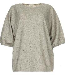 katoenen sweatshirt zupy  grijs