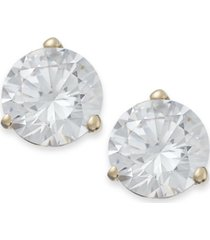 arabella 14k gold earrings, swarovski zirconia stud earrings (7mm)