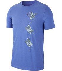 camiseta de hombre m nk dry tee wild ru nike morado