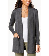 jm collection petite open-front cardigan, created for macy's