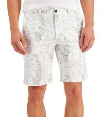 alfani men's marble printed shorts, created for macy's